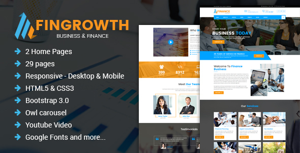 FinGrowth - Business & Finance HTML Template - Business Corporate