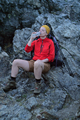 female hiker drinking water - PhotoDune Item for Sale