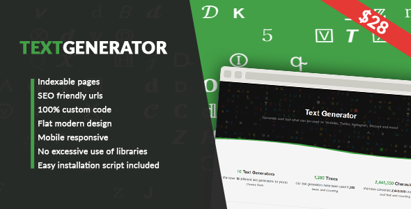 Text Generator - CodeCanyon Item for Sale