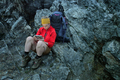 hiker using portable tablet technology - PhotoDune Item for Sale