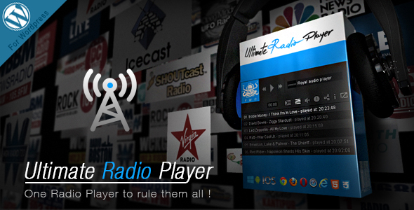 Ultimate Radio Player Wordpress Plugin - CodeCanyon Item for Sale