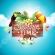 Vector Summer Time Holiday Typographic - GraphicRiver Item for Sale