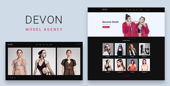 Image of Devon - Model Agency Directory HTML Theme