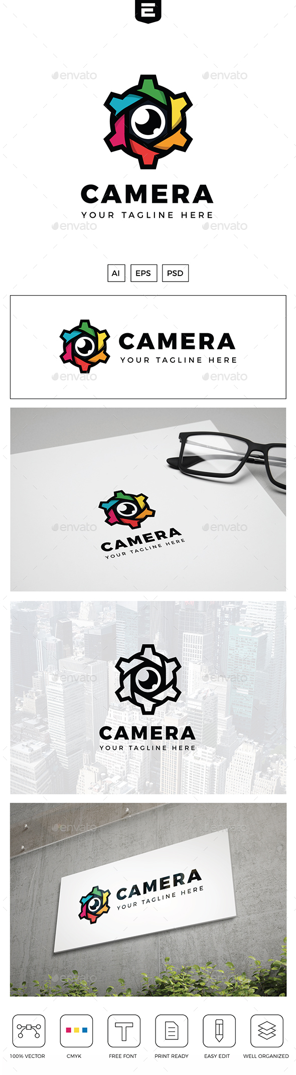 Camera Gear Logo - Objects Logo Templates