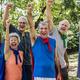Childlike seniors wearing superhero costumes - PhotoDune Item for Sale