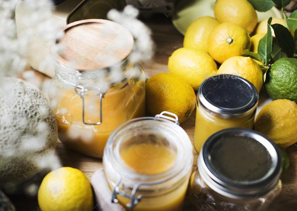 Lemon curd food photography recipe idea - Stock Photo - Images