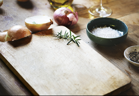 Cooking ingredients food photography recipe idea - Stock Photo - Images