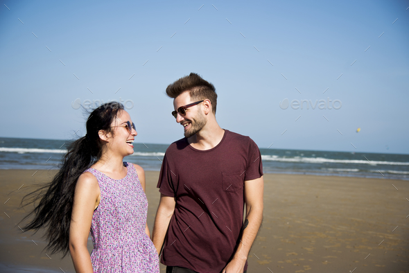 A couple on vacation - Stock Photo - Images