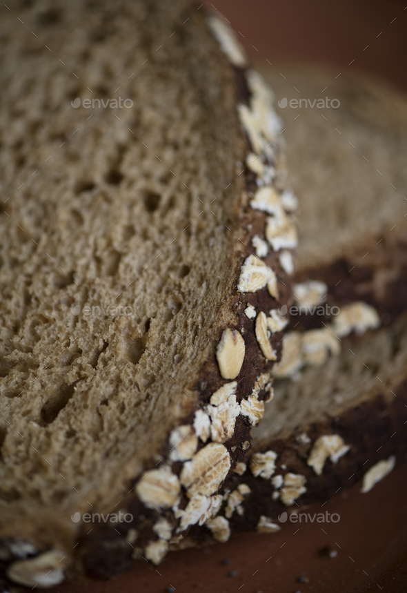 Close up of slices of bread - Stock Photo - Images