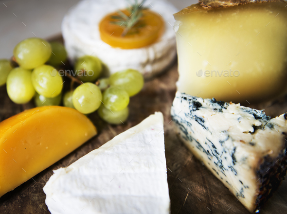 Cheese platter food photography recipe idea - Stock Photo - Images