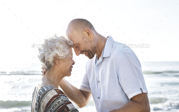 A senior couple - Stock Photo - Images