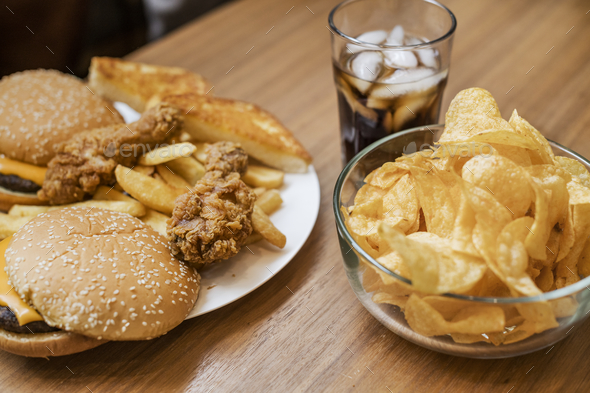 Fattening and unhealthy fast food - Stock Photo - Images
