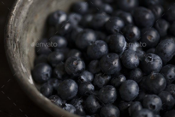 Closeup of fresh organic blueberries - Stock Photo - Images