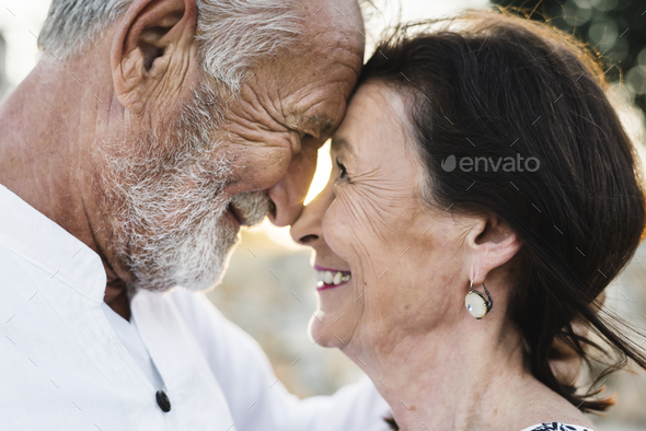 Mature couple still in love - Stock Photo - Images