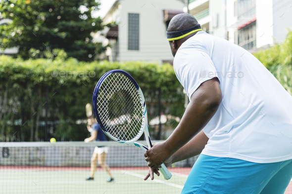 Two players in a tennis match - Stock Photo - Images
