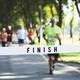 Mature man running towards the finish line - PhotoDune Item for Sale
