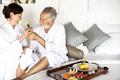 A senior couple enjoying room service - PhotoDune Item for Sale