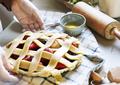 A person baking fruit pie food photography recipe idea - PhotoDune Item for Sale