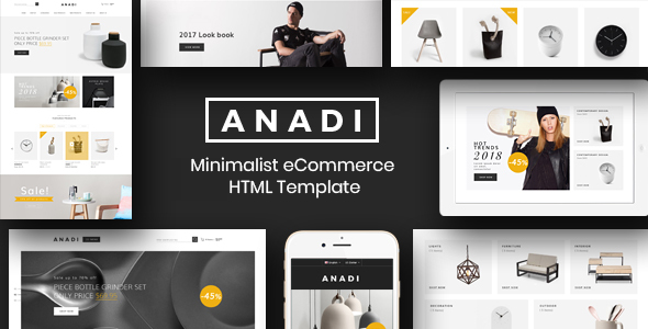 Anadi - Furniture Bootstrap 4 eCommerce Template