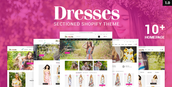 Image of Dresses - Responsive, Drap & Drop Shopify Theme