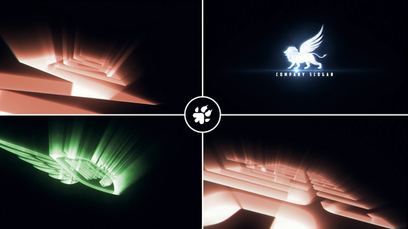 Cinematic Light Rays Logo v3