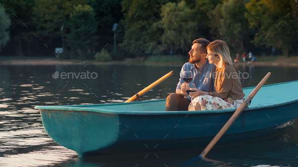 Young couple in the evening - Stock Photo - Images