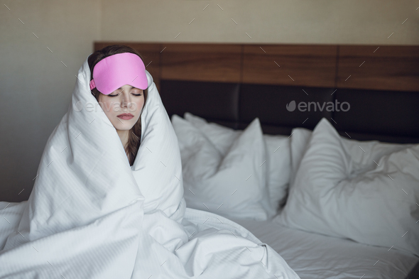 Sleeping woman in the morning - Stock Photo - Images