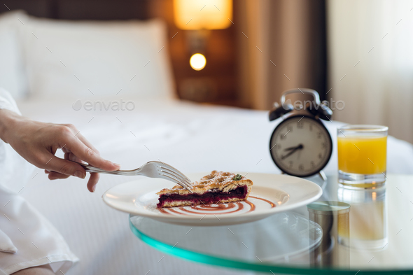 Delicious breakfast in the room - Stock Photo - Images
