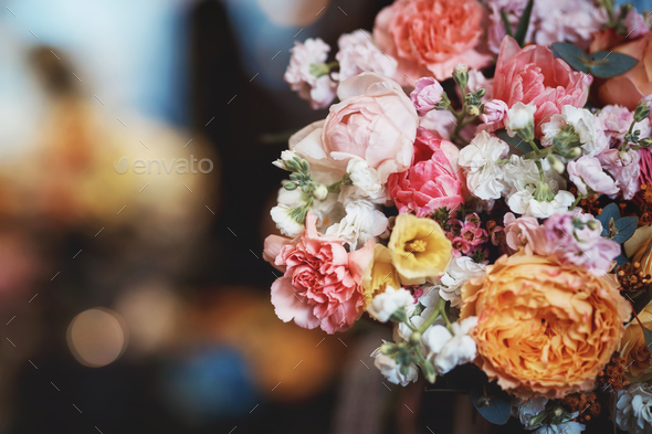 Beautiful bouquet of flowers - Stock Photo - Images