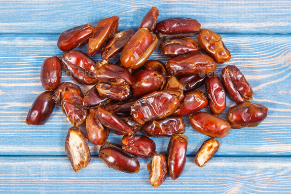 Dates containing natural vitamins and dietary fiber, healthy nutrition concept - Stock Photo - Images