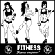 Girls with Dumbbells - GraphicRiver Item for Sale