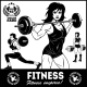 Girls with Barbell - GraphicRiver Item for Sale