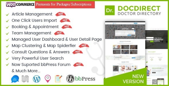 Directory DocDirect - Responsive WordPress Theme for Doctors and Healthcare Directory - Directory & Listings Corporate