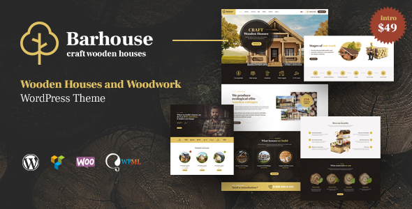 Image of Barhouse - Wooden House Construction and Woodworks WordPress Theme