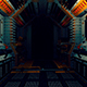 The Movement Along The Corridor Of The Space Station - VideoHive Item for Sale