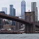 Brooklyn Bridge and the East River in New York City - VideoHive Item for Sale