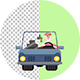 Human Car Driving - VideoHive Item for Sale