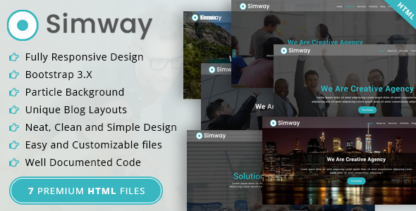 Image of Simway Business Html Template