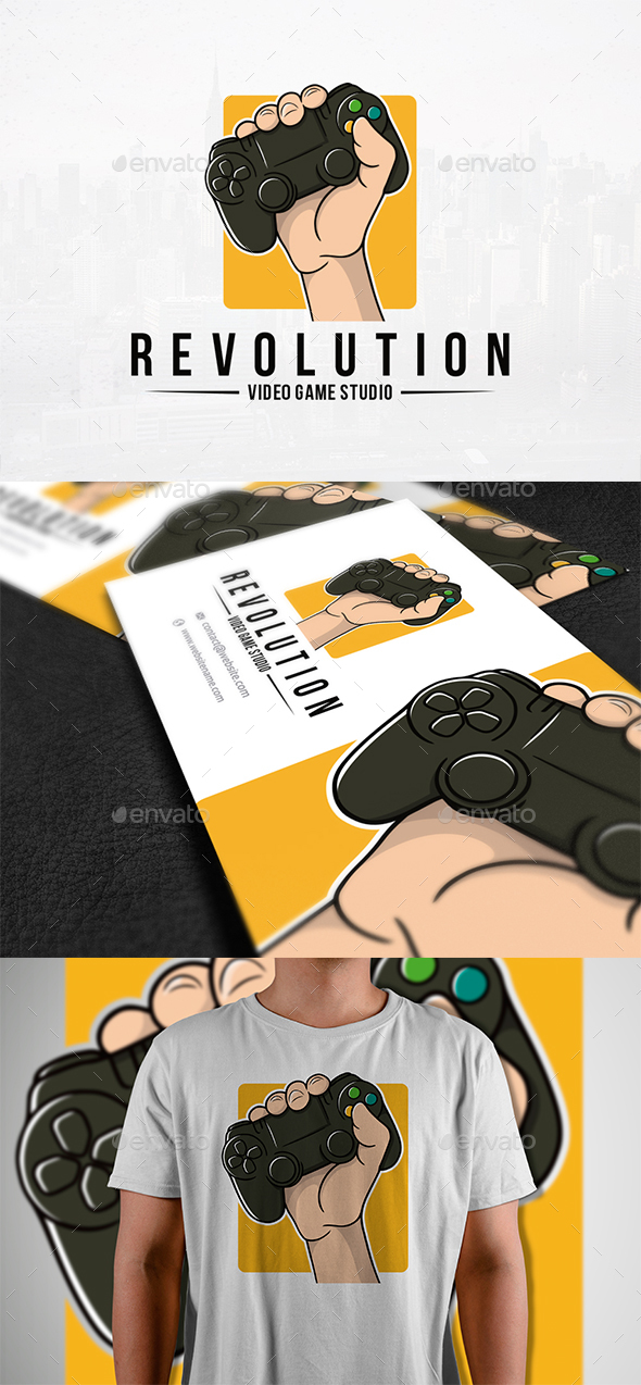 Revolution Games Logo Template - Humans Logo Templates