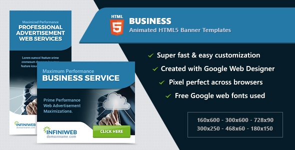 Business banners html5 animated ad templates gwd by infiniweb business banners html5 animated ad templates gwd codecanyon item for sale flashek Images