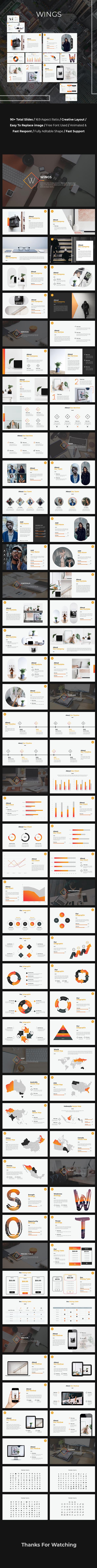Wings Google Slides Template - Google Slides Presentation Templates
