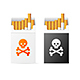 Cigarette Warning Pack with Skull Set