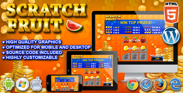 Scratch Fruit - HTML5 Casino Game - CodeCanyon Item for Sale