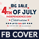Free Download 4th of July Facebook Cover - 2 Design- Image Included Nulled