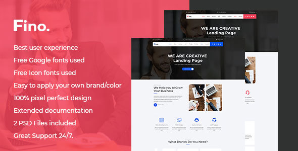 Fino - Finance & Consulting Business PSD Landing Page - Business Corporate
