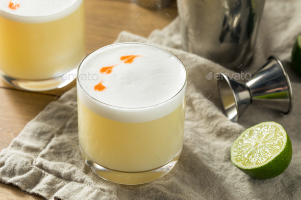 Homemade Pisco Sour Cocktail - Stock Photo - Images