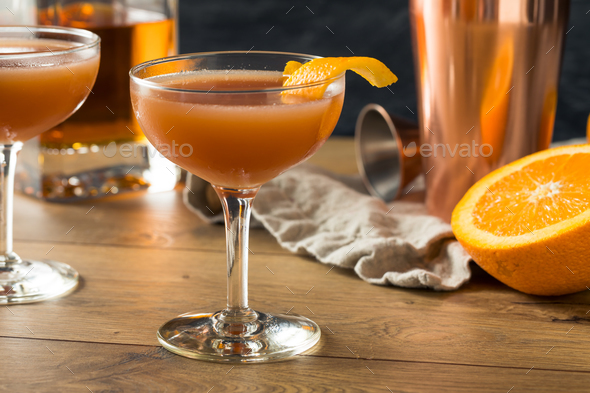 Homemade Smokey Blood and Sand Cocktail - Stock Photo - Images
