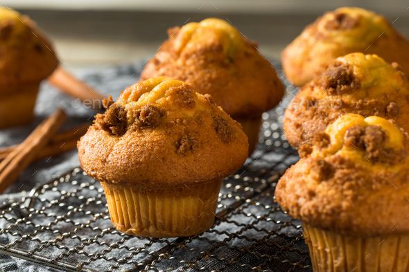 Homemade Sweet Cinnamon Muffins - Stock Photo - Images