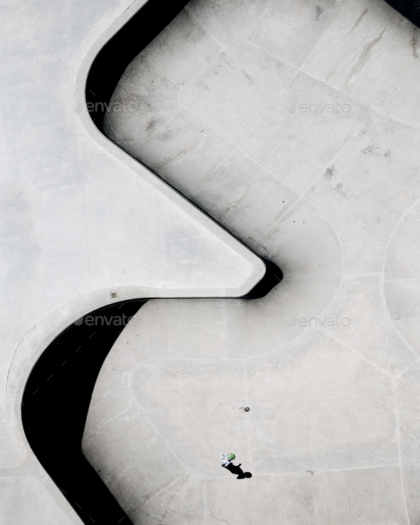 Skatepark from Above - Stock Photo - Images