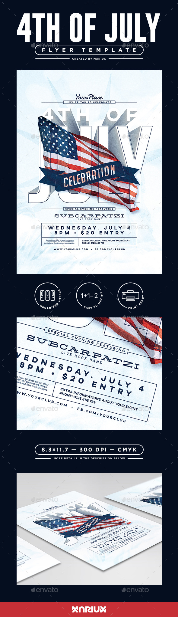 4th of July Flyer / Poster - Clubs & Parties Events